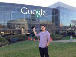 At the Google  mother ship in Mountain View, CA